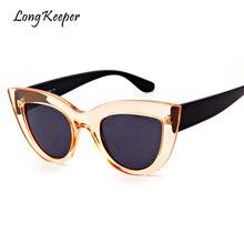 Long Keeper 2018 Fashion Cat Eye Sunglasses Women Hot Sale Male Female UV400 Goggles Ladies Sun Glasses for Men Gafas STY7ME022