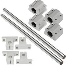 5 шт. 200 мм-1000 мм SCS8UU/SK8 8 мм вал 200-1000 мм длина оптическая линейная направляющая поддержка ЧПУ набор углеродистая сталь