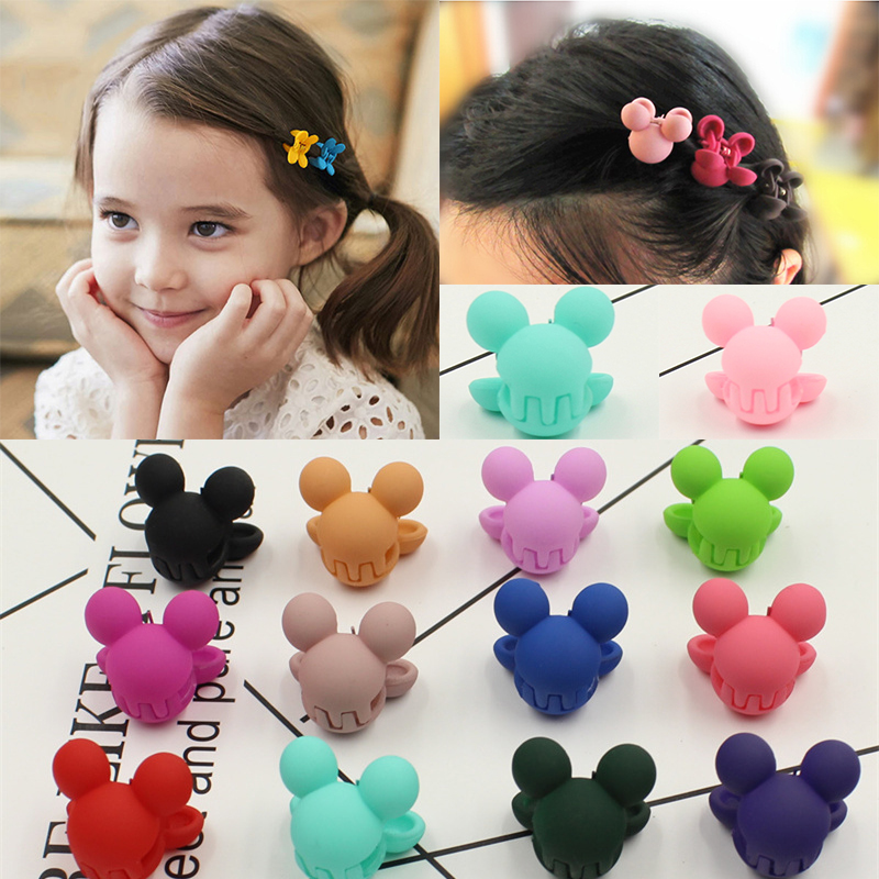 10 Pcs Cute Small Cartoon Hair Claws Headwear Mickey Hairpins Kids Hair Clip Hairgrips Headbands Little Girls Hair Accessories halloween party zombie skull skeleton hand bone claw hairpin punk hair clip for women girl hair accessories headwear 1 pcs