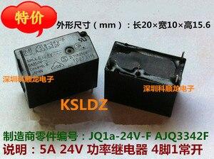Image 3 - จัดส่งฟรีจำนวนมาก (10ชิ้น/ล็อต) 100% ใหม่JQ1A 24V F AJQ3342F JQ1A 24V AJQ3342 5A250V 4PINS 24VDC DC24V 24Vรีเลย์