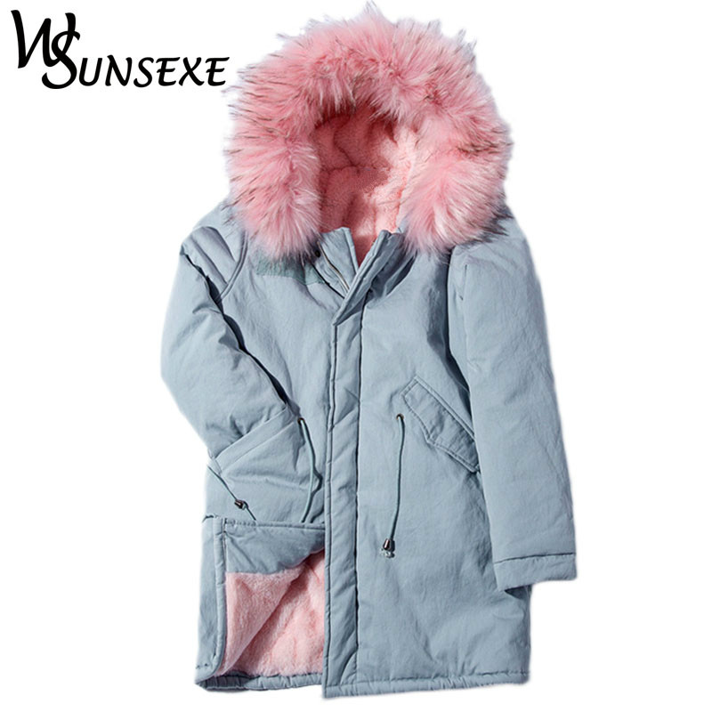 Warm Faux Fur Hooded Jacket Coat Women New Winter Long Fur Coats Fashion Autumn Drawstring Flocking Parkas Female Outwear Jacket bishe spring autumn winter new 2017 fur jean denim jacket winter blue women jacket coat with hooded long sleeves warm outwear