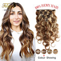 14-24inch 7Pcs Clip In On Hair Extension Chocolate Color Clip Remy Human Hair 100g/Set Brazilian Virgin Human Hair in hairpins