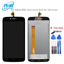 WEICHENG Tested Well For Homtom HT50 LCD Display + Touch Screen Assembly Perfect Repair Part 5.5 inch +tools