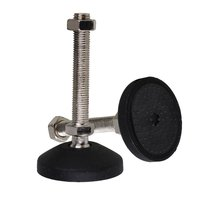 Black 78mm Dia M16 X 100mm Threaded Universal Joint Adjustable Levelling Feet Furniture Glide Pad Pack