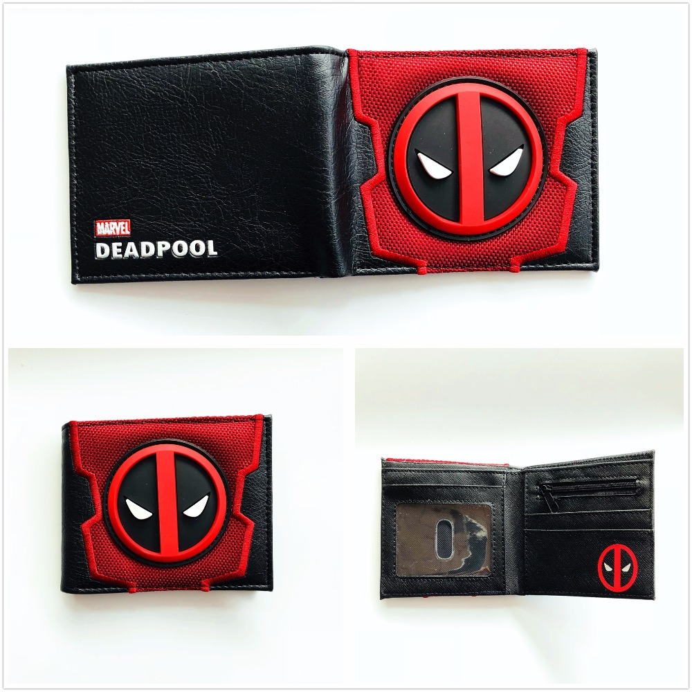2018 New Designs Deadpool Wallets Cartoon Anime Dead Pool bag Purse Fold Card Holder Bag Short Wallet W837Q цена
