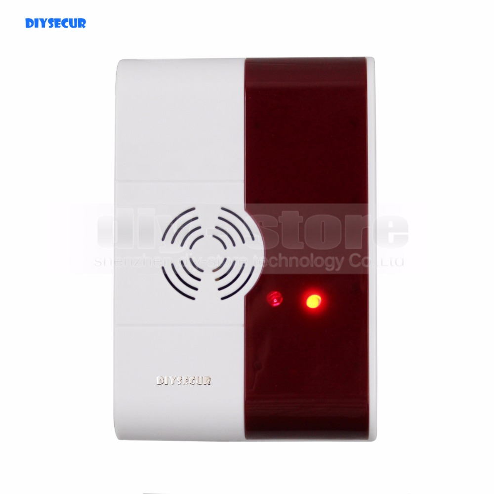 DIYSECUR QG-02 Wireless Gas Sensor for Our Related Home Alarm Home Security System 433Mhz Gas Detector golden security lpg detector wireless digital led display combustible gas detector for home alarm system