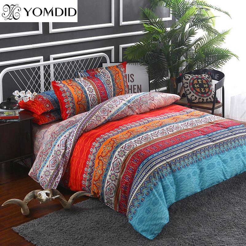 Bohemian bedding sets 3/4pcs Mandala duvet cover set Flat sheet Pillowcase Twin/Full/Queen/king size bedding set bed linens
