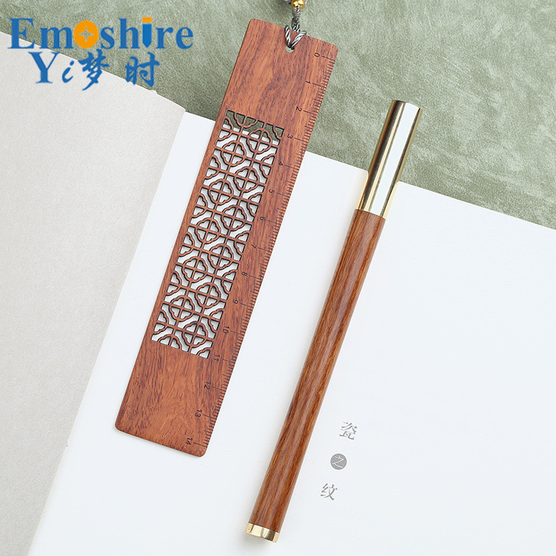 Ballpoint Pen and Creative Wooden Bookmark Suit  Business Gift Custom Lettering Rollerball Pen for School Office Writing P386 creative business gift holiday gift pen writing pen gorgeous high end gift signature pen cute lady writing pen