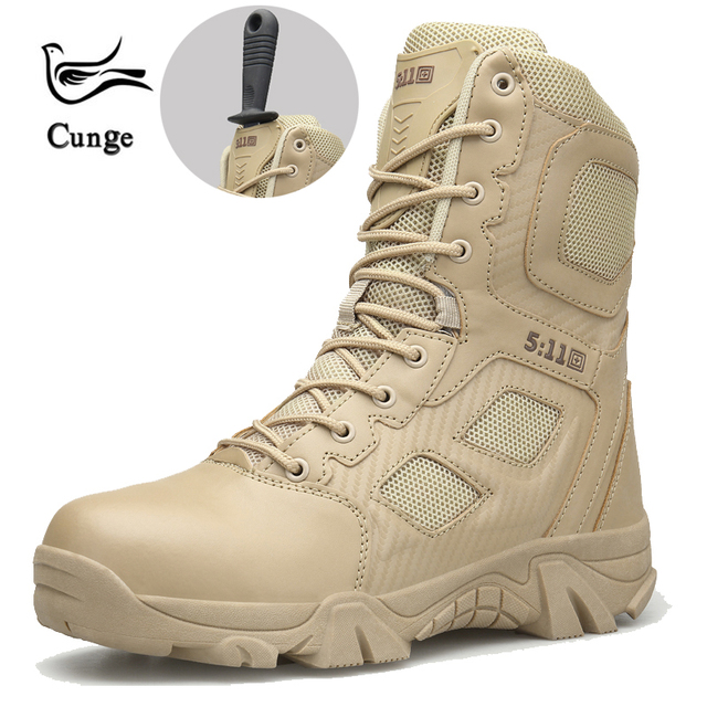 cunge Outdoor men army boots Hiking boots Combat hiking Shoes 511 tactical boots desert Trekking shoes Hunting Climbing shoes