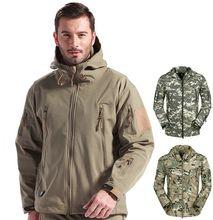 цены на Men Military Tactical Jackets Outdoor Waterproof Army Sports Camouflage Hunting Camping Warm Thermal Fleece Lining Coat  в интернет-магазинах