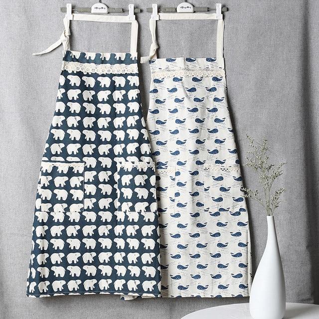 Online-Shop Japanische Baumwolle Schürzen Kochschürze Kit Bib Ozean ...