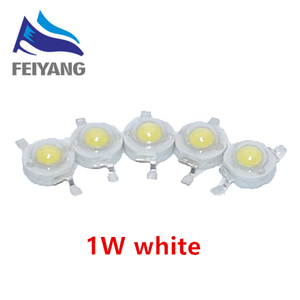Светодиодный светильник высокой мощности, 100 шт., 1 Вт, чистый белый/теплый белый, 300 мА, 3,2-3,4 в, 100-120лм, 30 мил