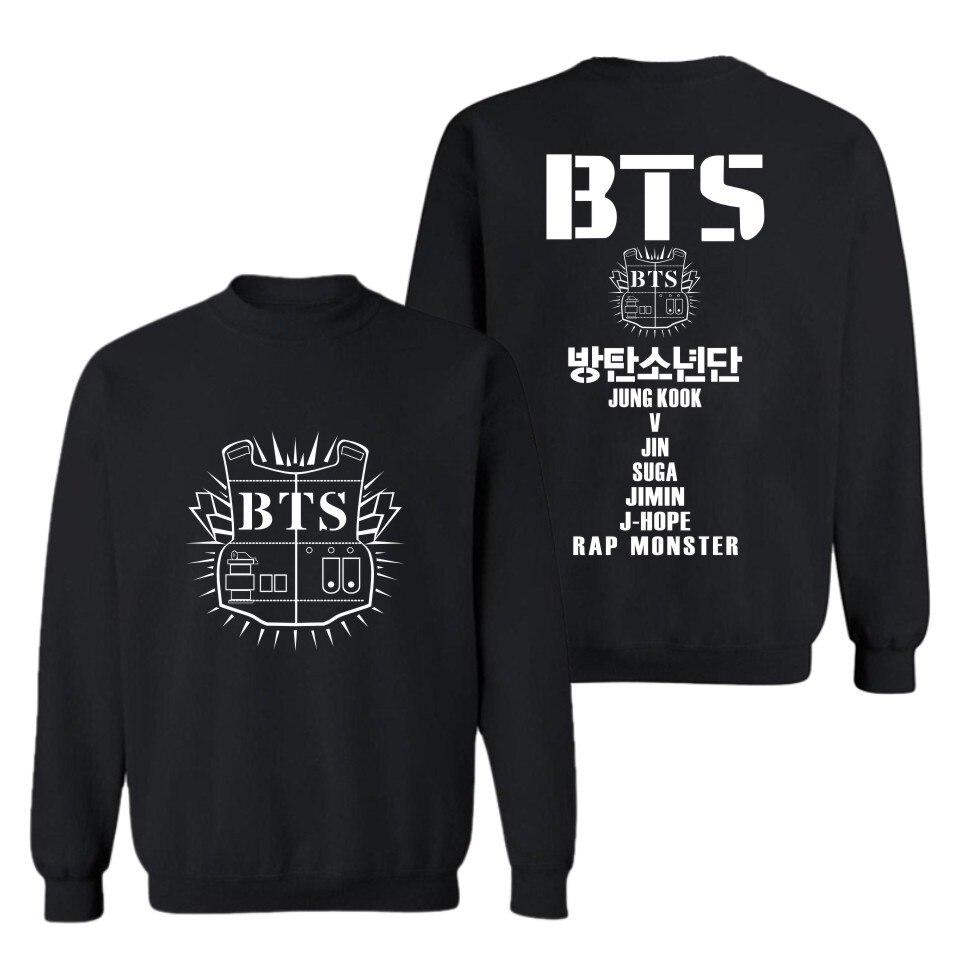 New Arrival BTS Hoodies And Sweatshirts Kpop BTS Sweatshirt Men Hoodie Pattern Printed Hip Hop Pullover 4XL
