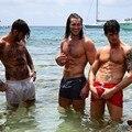 2019 New Mens Sexy Swimsuit Swimwear Men Swimming Shorts Men Briefs Beach Shorts Sports Suits Surf Board Shorts Men Swim Trunks