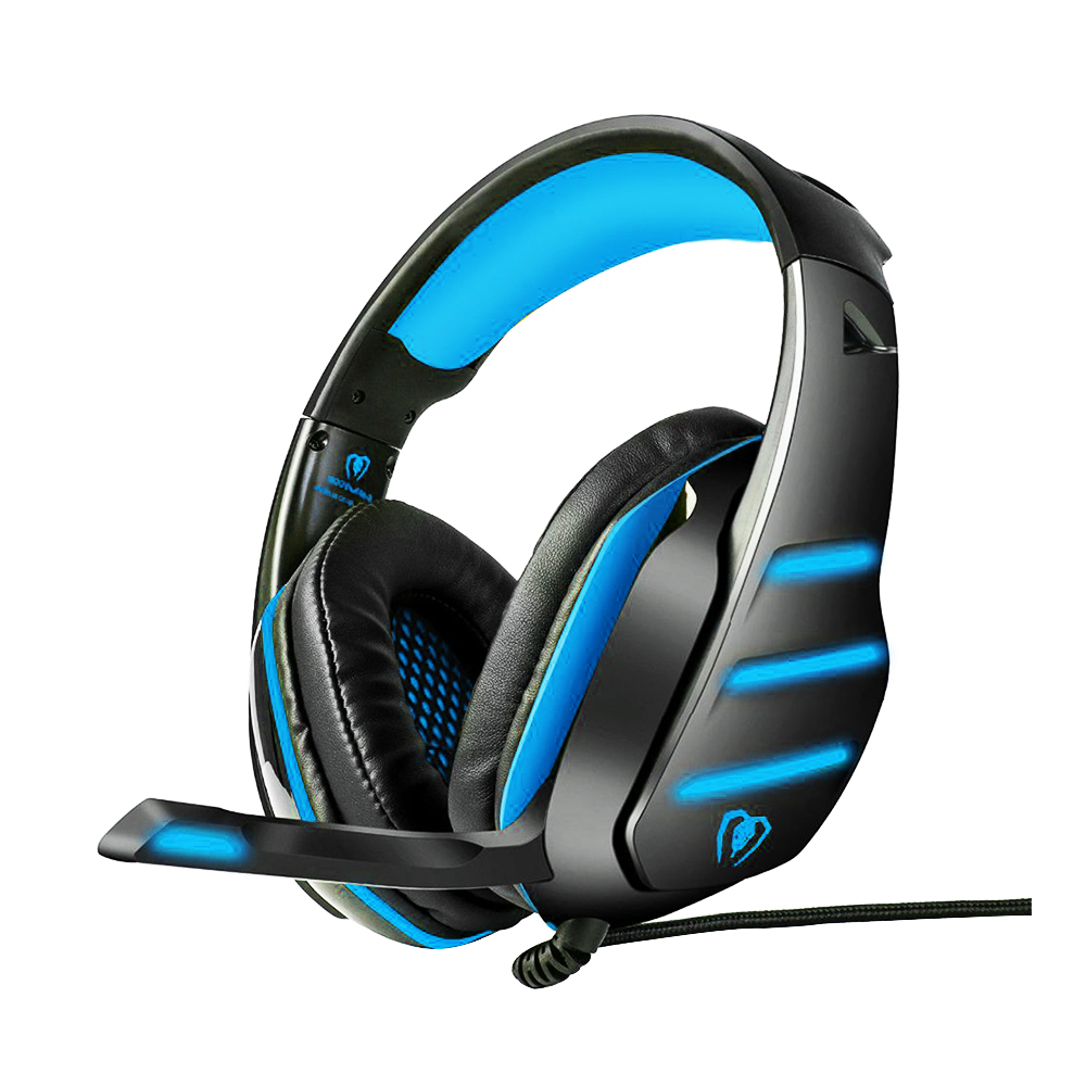 Beexcellent GM-3 USB Wired Gaming Headset W/ LED Light Stereo Bass Headband Headphones Professional 3.5mm Game Headphones For PC pc gaming headset gm 3 wired stereo led light bass over ear professional gaming headphones with 3 5mm mic noise isolating