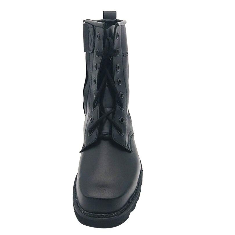 Lacets Pour À Militaires winter Rond Single Neige Roi Chaussures Acier D'hiver Pu Chaude Homme Lin Shoes Top Laine High Bout Moto Noir Style Shoes Nouvelle Bottes De xX44RwO6q