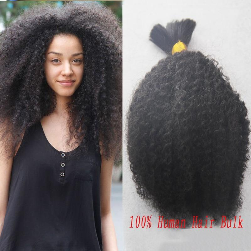 HOT Sale Brazilian Human Hair Afro Kinky Curly Bulk Hair