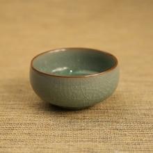 ZGJGZ High Temperature Glaze One Piece Christmas Tea Cup Longquan Celadon Handmade Craft Tea Sets For Adults Gift Box