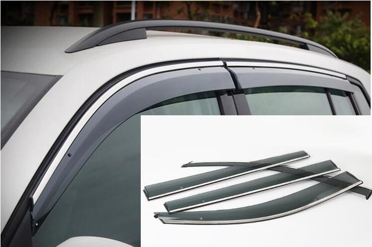 Car Styling Window Shades Sun Rain Deflector Guard Awnings For Volkswagen VW TIGUAN 2010 2011 2012 2013 2014 2015 2016 stainless steel front bonnet machine cover molding trim 1pcs fit for vw volkswagen tiguan 2010 2011 2012 2013 2014 2015 2016