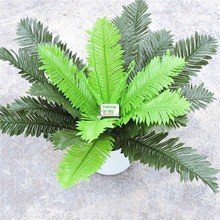 4 шт. x 24 листа 47 см искусственные растения нефролепис возвышенный пальмовое дерево Свадьба домашний офис мебель Декор зеленый Поддельные Листва FL7010