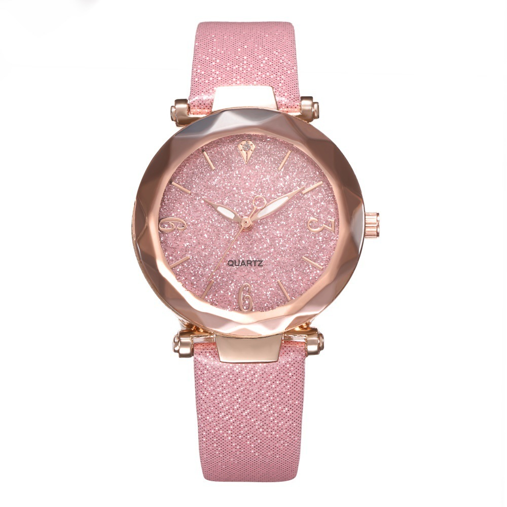 New Fashion Women Watches 2019 Best Sell Star Sky Dial Clock Luxury Rose Gold Women's Bracelet Quartz Wrist Watches