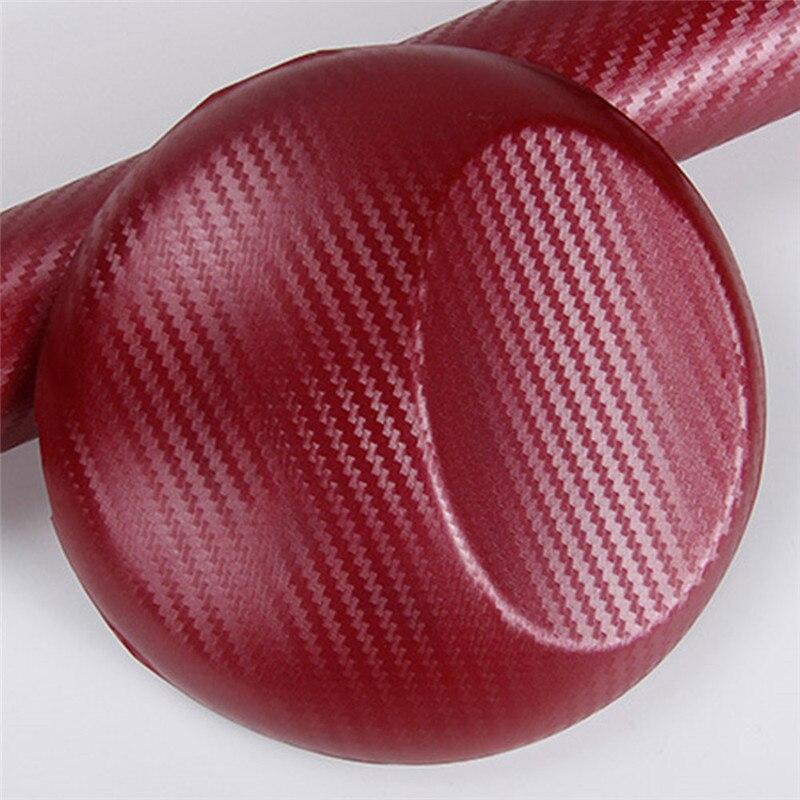 127cmx10/20 см 3D виниловая пленка из углеродного волокна для автомобиля, рулонная пленка, наклейка на машину, мотоцикл, наклейки для автомобиля, аксессуары для интерьера - Color Name: Wine Red