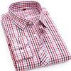 High Quality 2017 Men S Casual Plaid Shirts Long Sleeve Slim Fit 100 Cotton Shirt Leisure