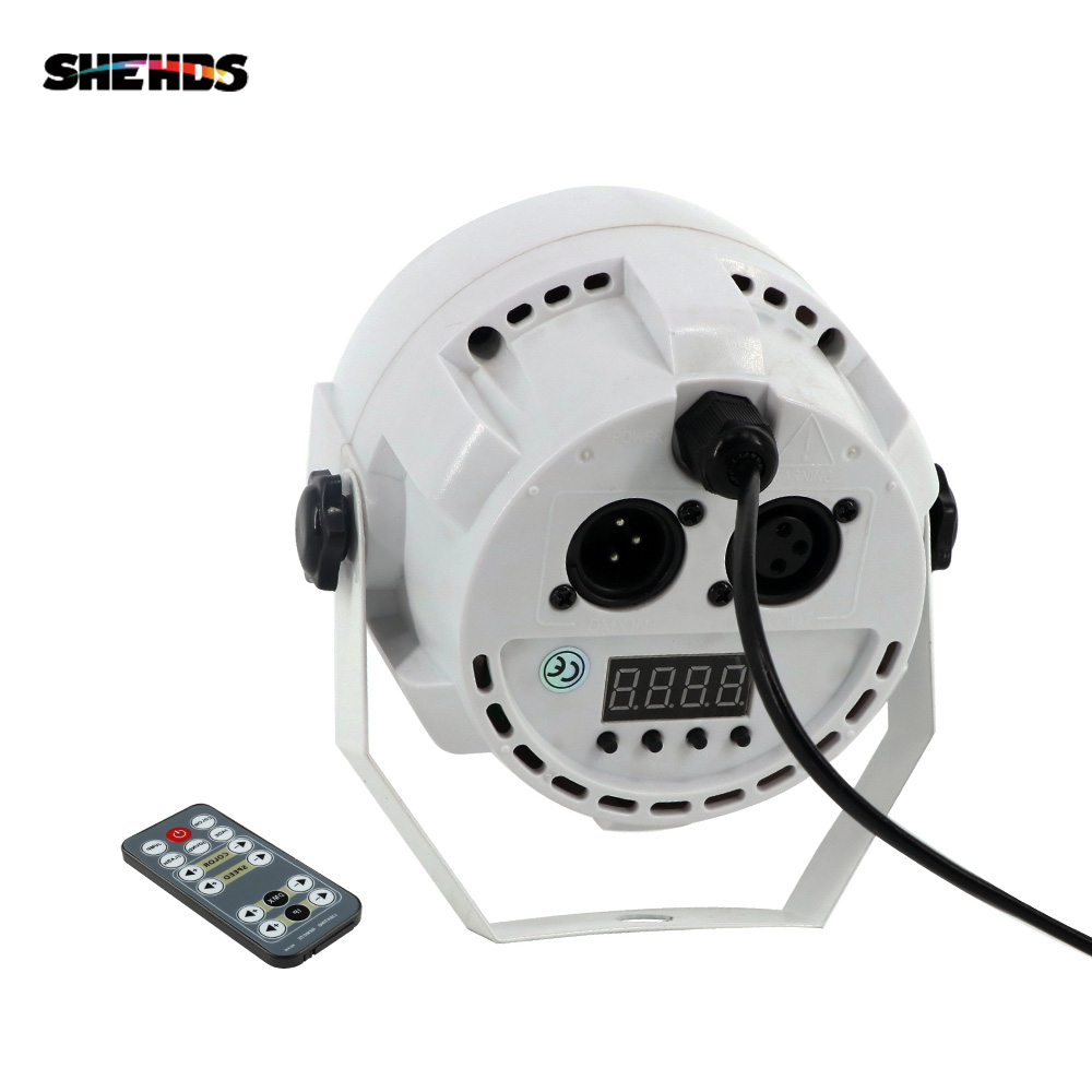 SHEHDS Remote Control 12x3W RGBW LED Flat Par Light With DMX512 For Disco DJ Projector Machine Party Decoration Stage Lighting in Stage Lighting Effect from Lights Lighting