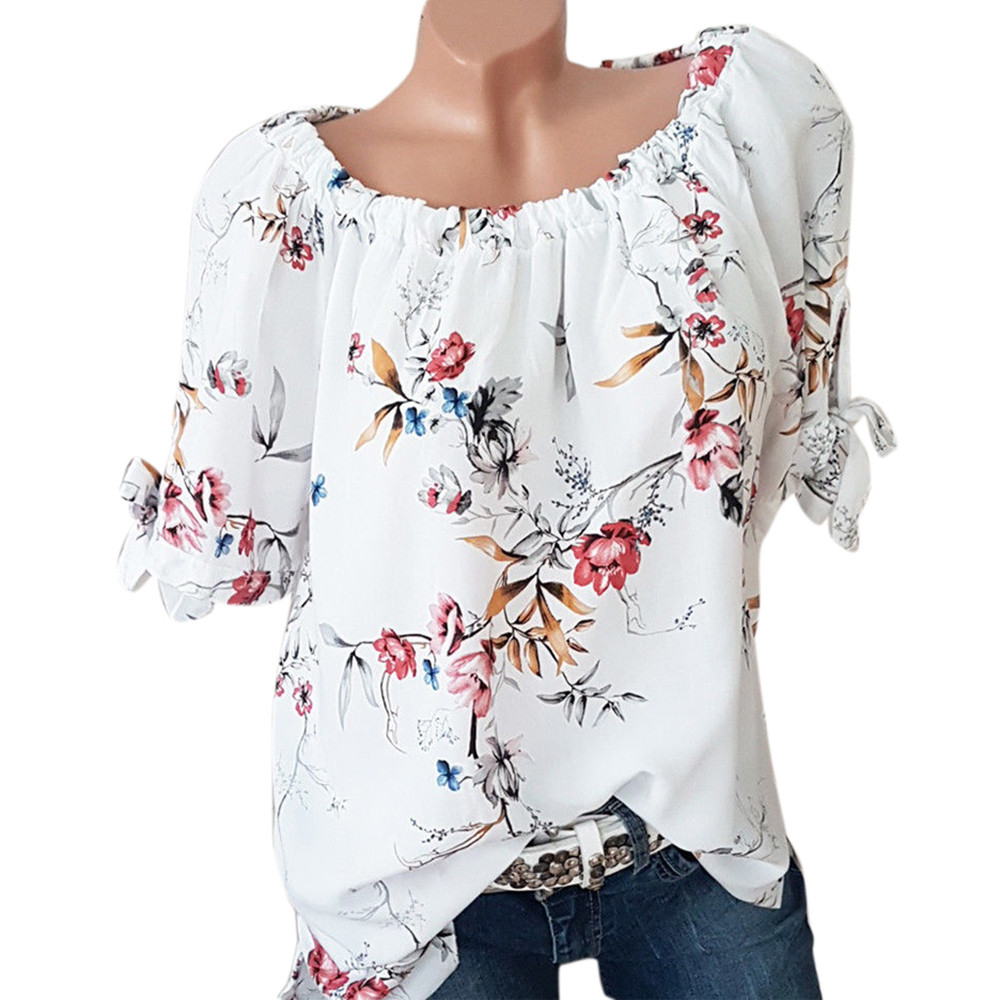 336b5cb21ad Plus Size 5XL Summer Tops For Womens Tops and Blouses 2018 Ladies Top Vintage  Floral Print Long Sleeve Blouse Woman Clothes