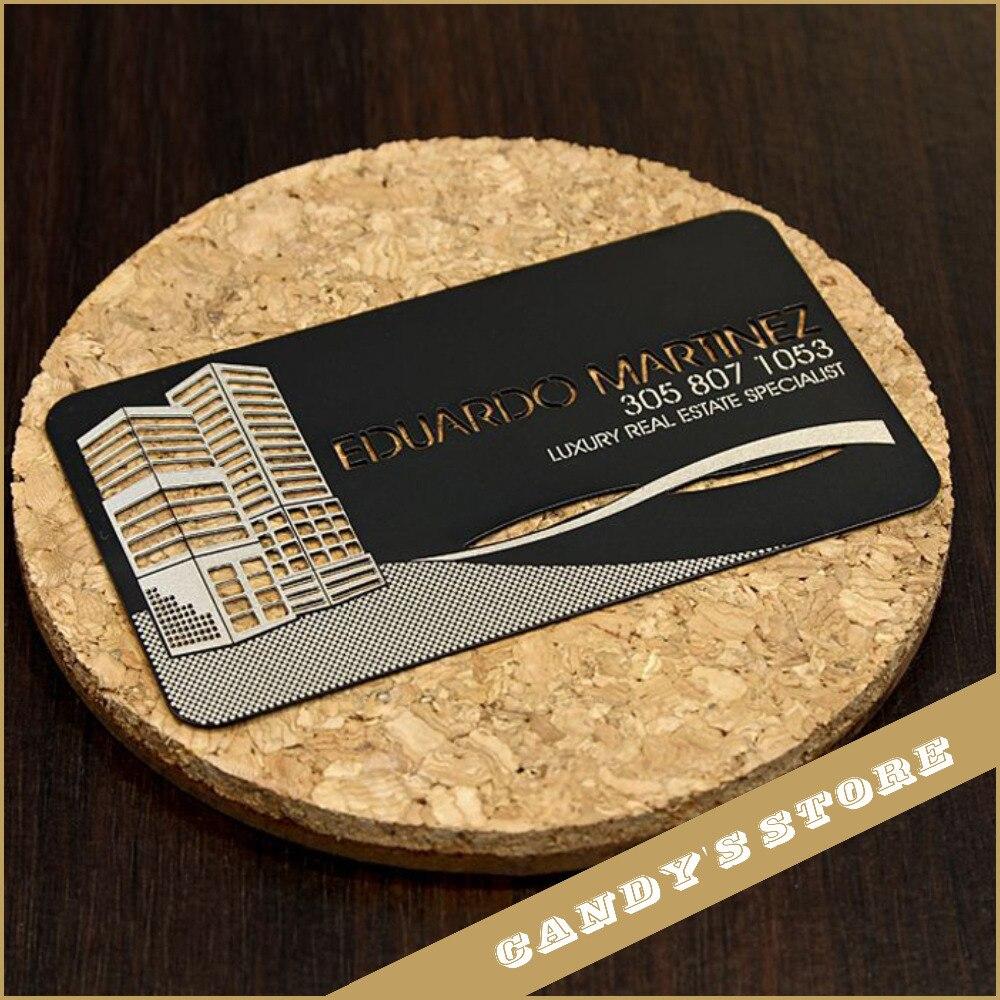 custom metal business card black stainless steel vip card