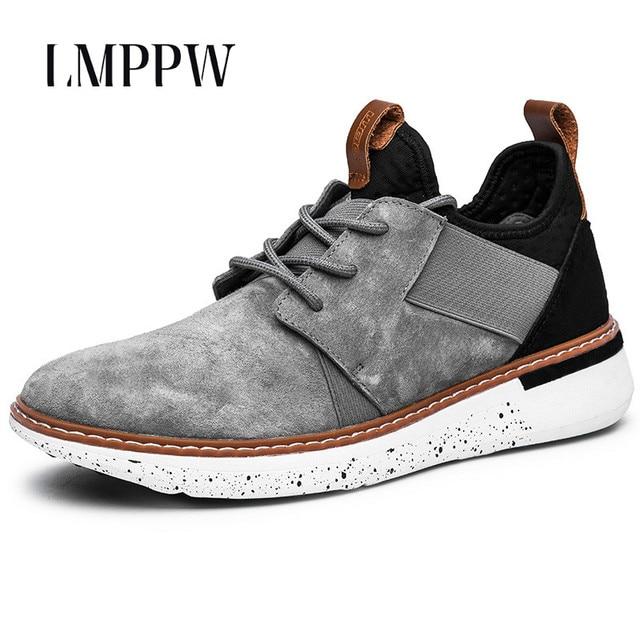 8d7807aac3e77 Estilo británico calzado para hombre ocasionales respirables Zapatos moda  hombres Zapatos de cuero hombres sneakers goma
