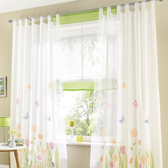 moda tulle para ventana gasa cortina escarpada para cocina el dormitorio sala de estar del