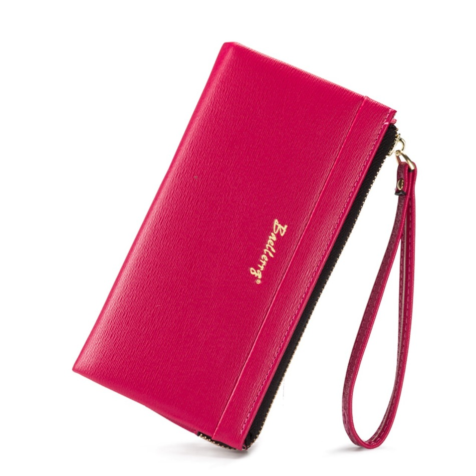 New Womens Long Purses Multifunction Zipper Soft PU Embossed Hand Rope Mobile Phone Bit Credit Card Holder Coins Clutch Wallets