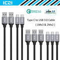 ICZI Type C USB C to USB 3.0 Braided Nylon Cable 5 Pack 6.6ft x 2 & 3.3ft x 3 for Macbook Chromebook Pixel Nexus 6P and More