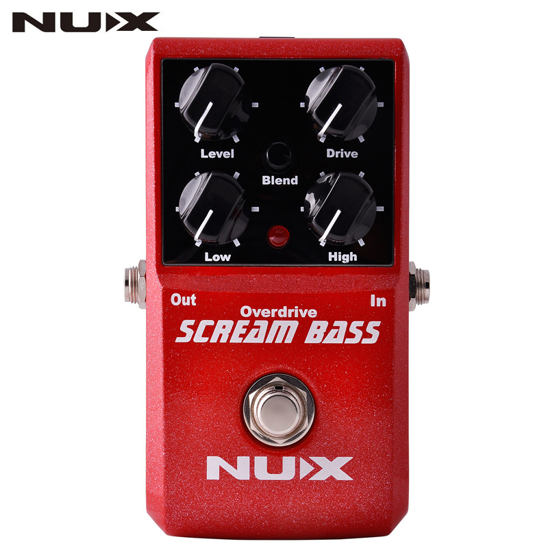 NUX Scream Bass Analog Overdrive Bass Effects Pedal True Bypass Bass Overdrive Pedal With Users' Manual For Electric Bass