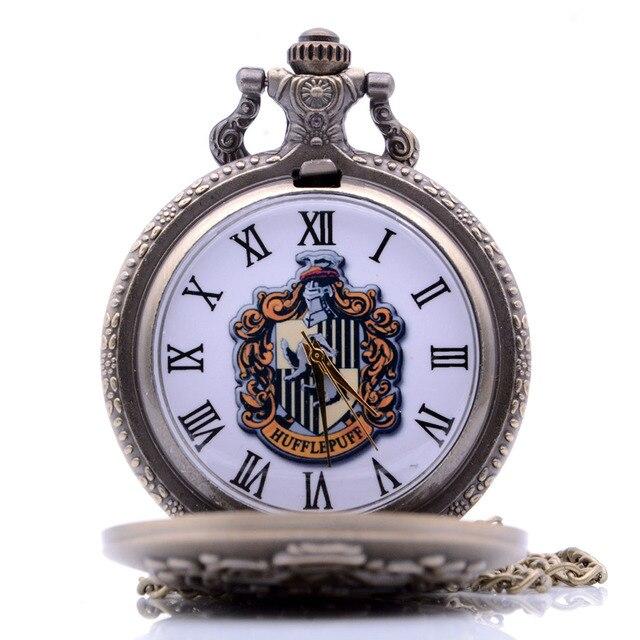 Vintage Antique Harry Potter HUFFLEPUFF Mens Womens Quartz Pocket Watch Analog P