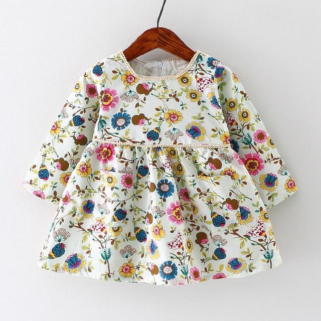 Floral Print European Style Baby Girl Dress