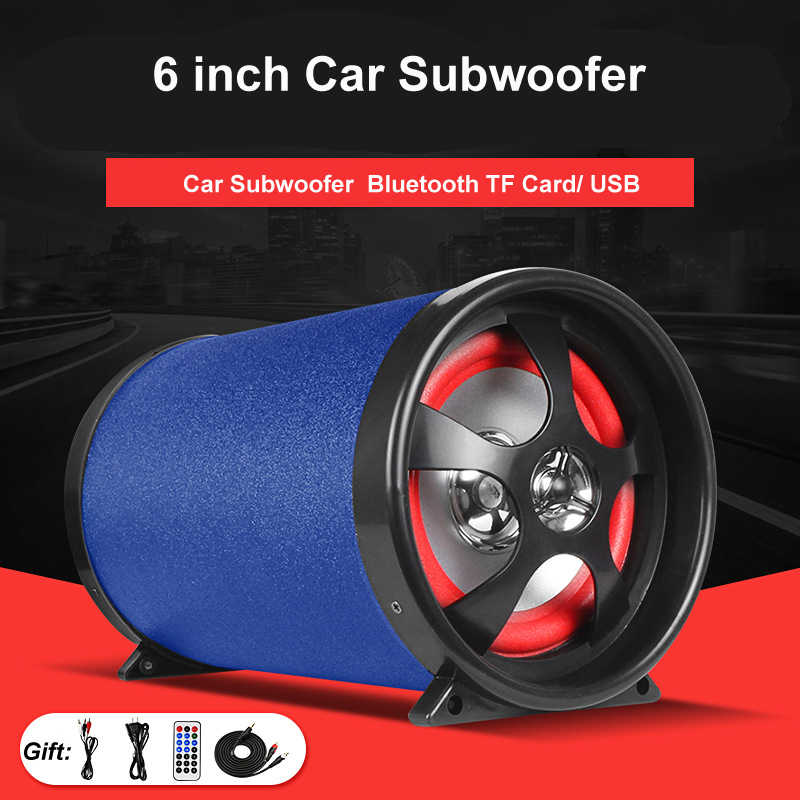 Universal Bluetooth 6 Inch 12V 24V 220V 80W HIFI Car Subwoofer Auto Audio Sound Super Bass