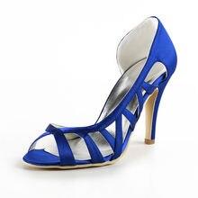 Sapatos Femininos sommer hochzeit heels schuhe satin ausgeschnitten bridals sandalen OL brautjungfer abendgesellschaft stilettos RR-032 YY
