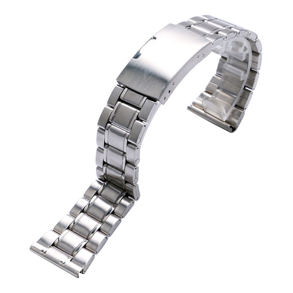 HQ 20mm 22mm Watch Strap Stainless Steel Folding Clasp Watch Bands Silver Bracelet For Men Women Wrist Watch Replace stylish 8 led blue light digit stainless steel bracelet wrist watch black 1 cr2016