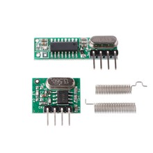 1 Set 433Mhz RF Superheterodyne Receiver Transmitter Module Kit With Antenna For Arduino/ARM/MCU(China)