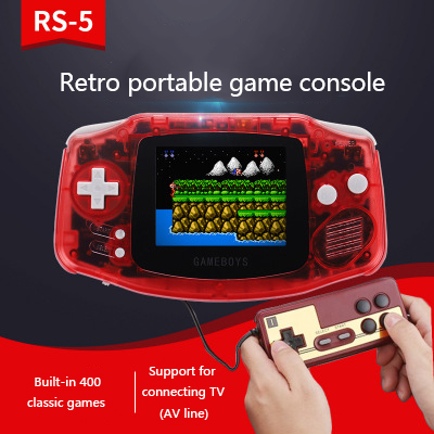 """tetris 3"""" Color screen console classic retro mini handheld game console AV line video game Support for two-player"""
