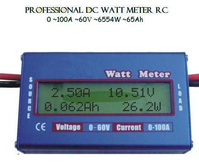 Freeshipping New Digital 60V 100A Battery Balance LCD Voltage Power Analyzer Watt Meter браслет power balance бкм 9668