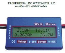 Freeshipping New Digital 60V 100A Battery Balance LCD Voltage Power Analyzer Watt Meter