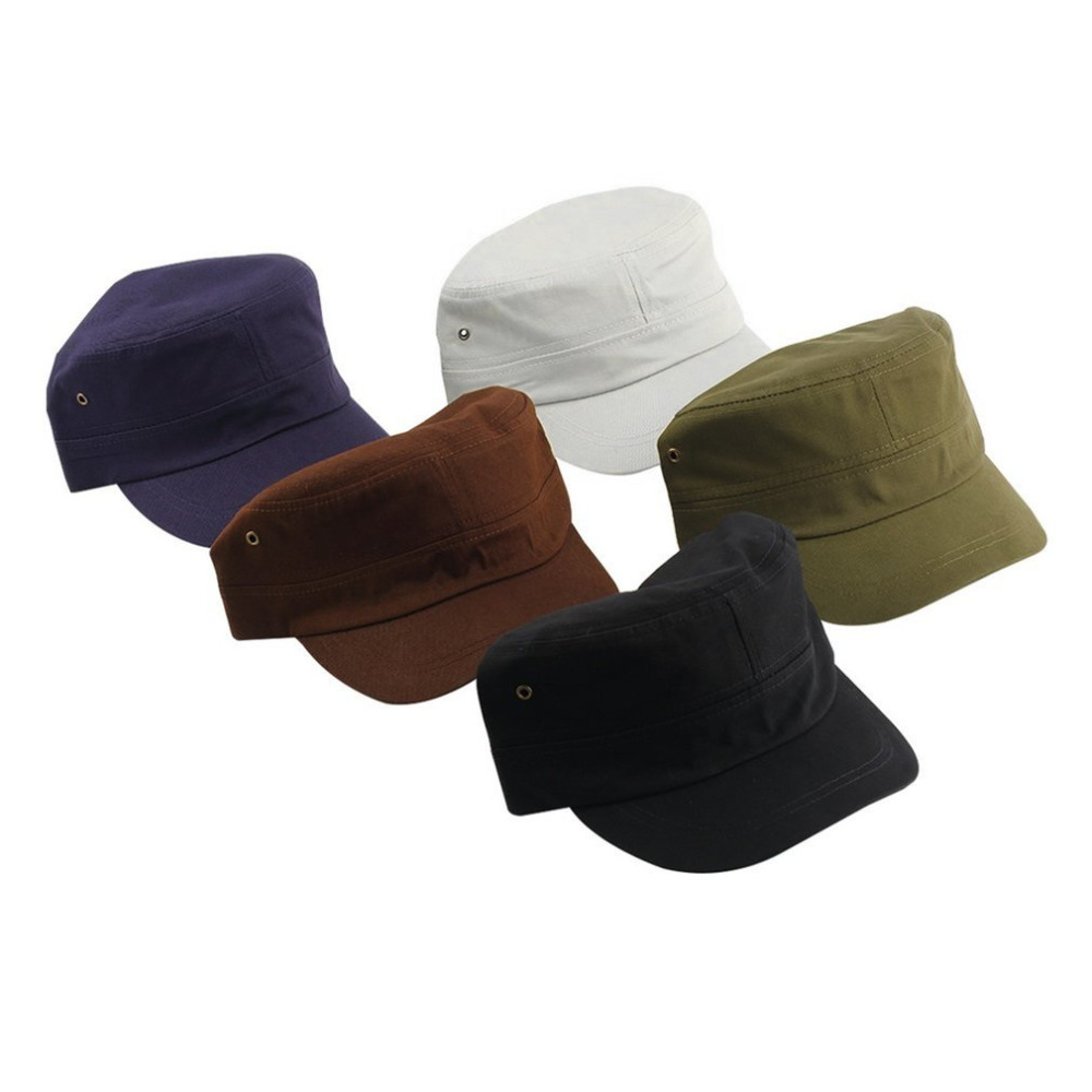 c6389a5681e8e New Men Women Casual Baseball Cap Classic Hat Preppy Style Adjustable Army  Plain Vintage Cadet Caps News Boy Hats Multicolor