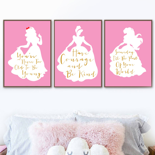 Little Princess Quotes Nordic Poster And Prints Wall Art Canvas
