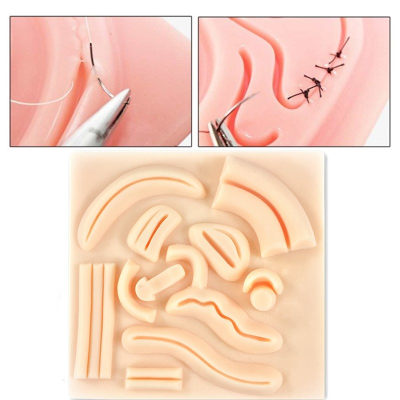 Laparoscopic Simulation Stitching  3D Silicone Module Surgical Training Skin Suture Pad Soft Lifelike For Teaching Demonstration