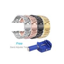 38mm 42mm Remplacement Bracelet En Acier Inoxydable Bande Papillon Fermoir pour Apple Watch/Sport/Édition Série 1/série 2 Bracelet