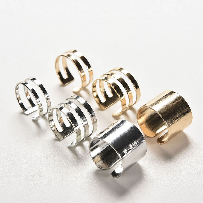 Tip Top Jewellery: New Women Jewelry Gold Sliver Color Rings Fashion Top Of