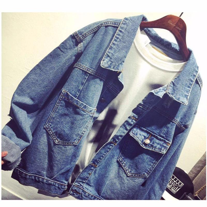 Women Jean Jacket Hot Sale Casual Popular Autumn Regular Coat Korea Girls Loose Outwear Simple Fashion Women\'s Clothing Cheap (5)